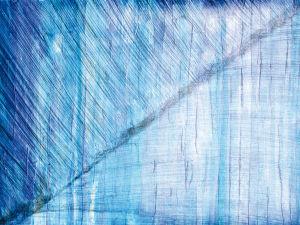 """3-Wege-Blau"", 50x70 cm, Erstellt 2002"