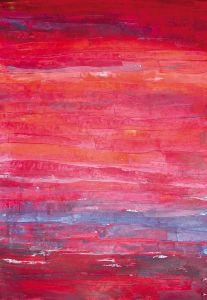 """""""Variation in Rot"""", 35x50 cm, Erstellt 2002"""