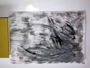 """Boot im Sturm"", 25x35 cm, Acryl auf Malkarton, Erstellt 02/2014"