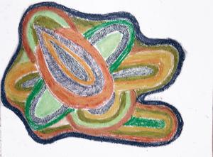 """""""Organische Formen, Scrafitti"""", 21x29,7 cm, Erstellt 2006"""