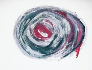 """""""Taifun"""", 35x50 cm, Erstellt ca. 2010"""