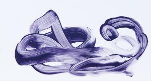 """""""Schlangentanz"""", Acryl auf Kunststoff, 11,5x21 cm, Erstellt 02/2009"""