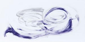 """Lila - grau"", Acryl auf Kunststoff, 15x30 cm, Erstellt 02/2009"
