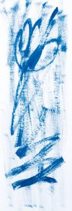 """""""Blau Empor"""", Acryl auf Malkarton, 17x35 cm, Erstellt 02/2009"""