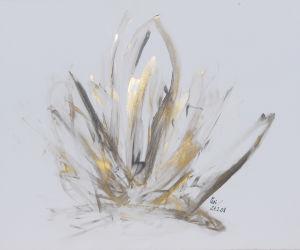 """""""mystische Erscheinung"""", Acryl/Kunststoff, 15x50 cm, Erstellt 02/08"""