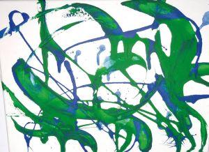 """""""Delpinspiele"""", 30x40 cm, Erstellt 02/2008"""
