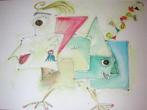 """""""Entscheidung"""", 24x32 cm, Erstellt 07/2001"""