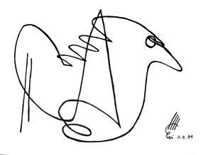 """Friedensvogel"", 21x29,7 cm, Erstellt 02/1991"