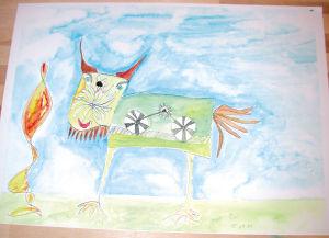 """""""Funktionierendes Tier"""", 24x32 cm, Erstellt 2001"""