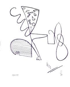 """""""Hommage an Pianistin Julia T."""", 21x29,7 cm, Erstellt 08/1990"""