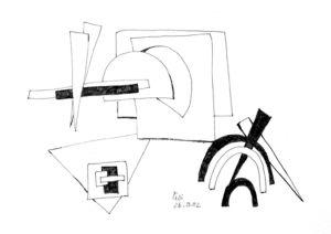 """""""Korrespondierende geometrische Formen"""", 20x21 cm, Erstellt 03/2002"""