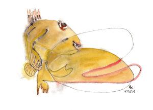 """""""Madame Nessie ruht"""", 21x29,7 cm, Erstellt 12/2009"""