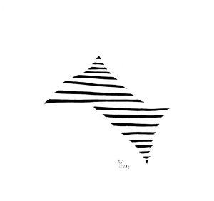 """""""Pyramidenspiegelung"""", 20x21 cm, Erstellt 03/2002"""