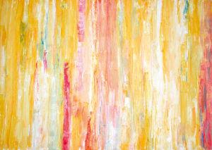 """""""Variation in Gelb"""", 70x100 cm, Acryl gespachtelt auf Karton, Erstellt 2001"""