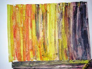 """""""Variation in Gelb"""", 25x35 cm, Acryl gespachtelt auf Malkarton, Erstellt 02/2004"""