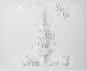 """""""Baumstruktur""""-Scherenschnitt, 40x50 cm, Erstellt 02/2009"""