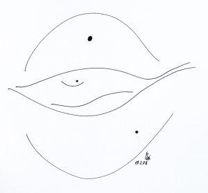 """""""beleidigter Fisch"""", 21x,29,5 cm, Erstellt 02/2008"""