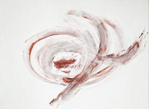 """""""Bräunliche Kringel"""", 24x33 cm, Acryl gespachtelt auf Karton, Erstellt 2002"""