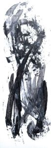 """dickköpfiger Vogel"", 17,5x50 cm, Erstellt 02/2008"