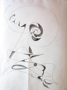 """""""Fließende Linien Baum"""", 37x46 cm, Erstellt 02/2004"""