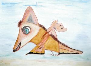 """Fuchshund"", 18x24 cm, Erstellt 12/2005"