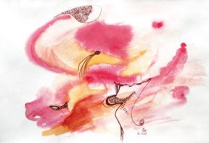 """""""Genese in Pink"""", 18x24 cm, Erstellt 12/2005"""