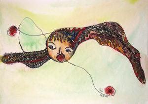 """""""kleiner Windgeist 2"""", 18x24 cm, Erstellt 02/2004"""