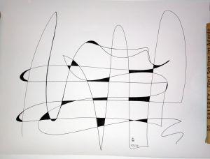"""""""Linienspiel"""", 25x35 cm, Erstellt 02/2004"""