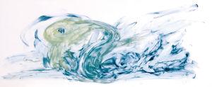 """""""Nessi taucht auf"""", ca. 20x15 cm, Erstellt 03/2007"""