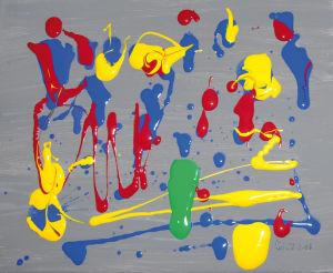 """""""Orchesterprobe"""", Acryl auf Leinwand, 24x30 cm, Erstellt 02/08"""