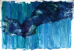 """""""vernetztes Blau"""", 50x70 cm"""