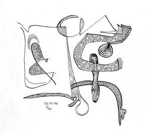 """""""verwobene Fläche"""", 21x29,7 cm, Erstellt 03/1998"""