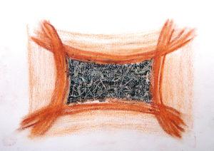 """""""unausgesprochene Worte"""", 21x29,7 cm, Erstellt 2005"""