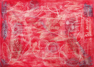 """Scrafitti rot"", 21x29,7 cm, Erstellt 2005"
